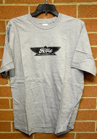 Ford Winged Logo T-Shirt- Gray