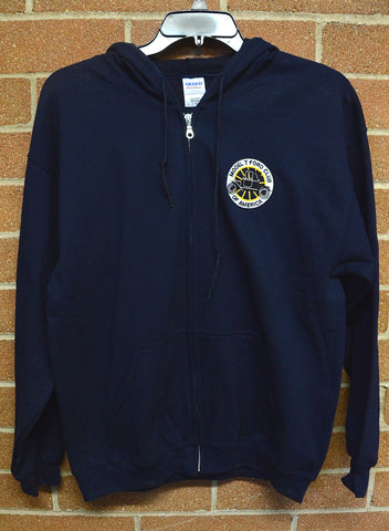 MTFCA logo Hooded Zippered Sweatshirt-Navy