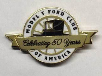 MTFCA 50th year anniversary lapel pin