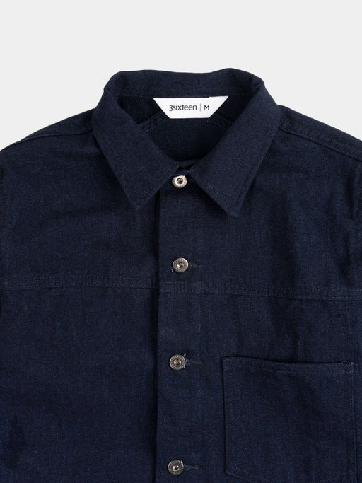 type 1s, indigo, denim jacket, 3sixteen, collar