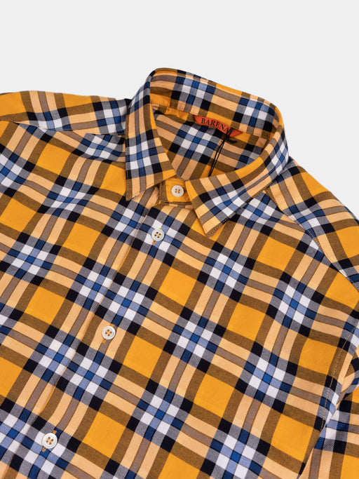 Shirt Coppi Gold Navy Check