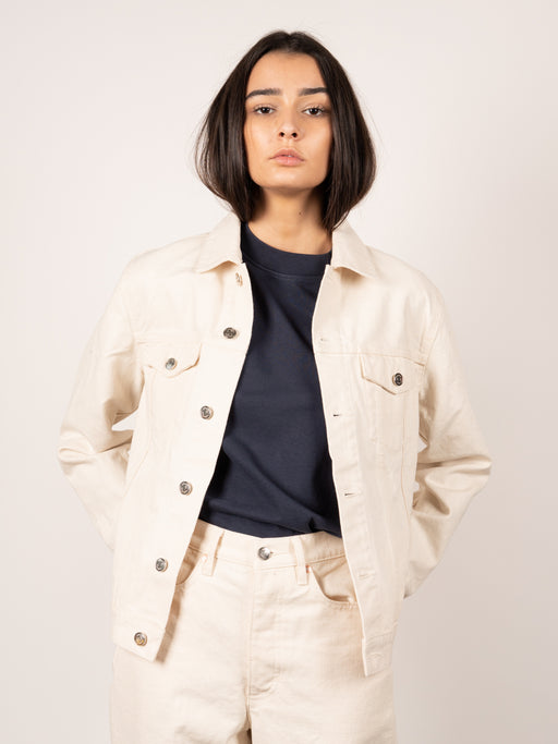 One Two Three Jacket Raw White Denim