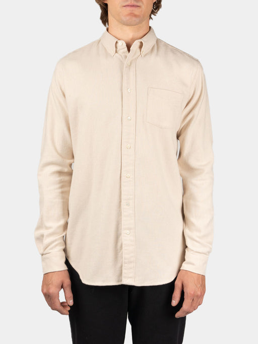 Shirt BD Twill Flannel Cream