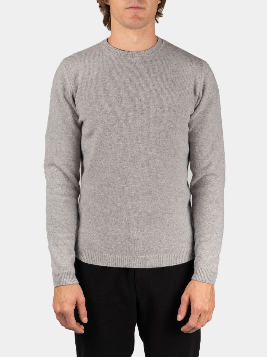 Sigfred Lambswool Light Grey Melange