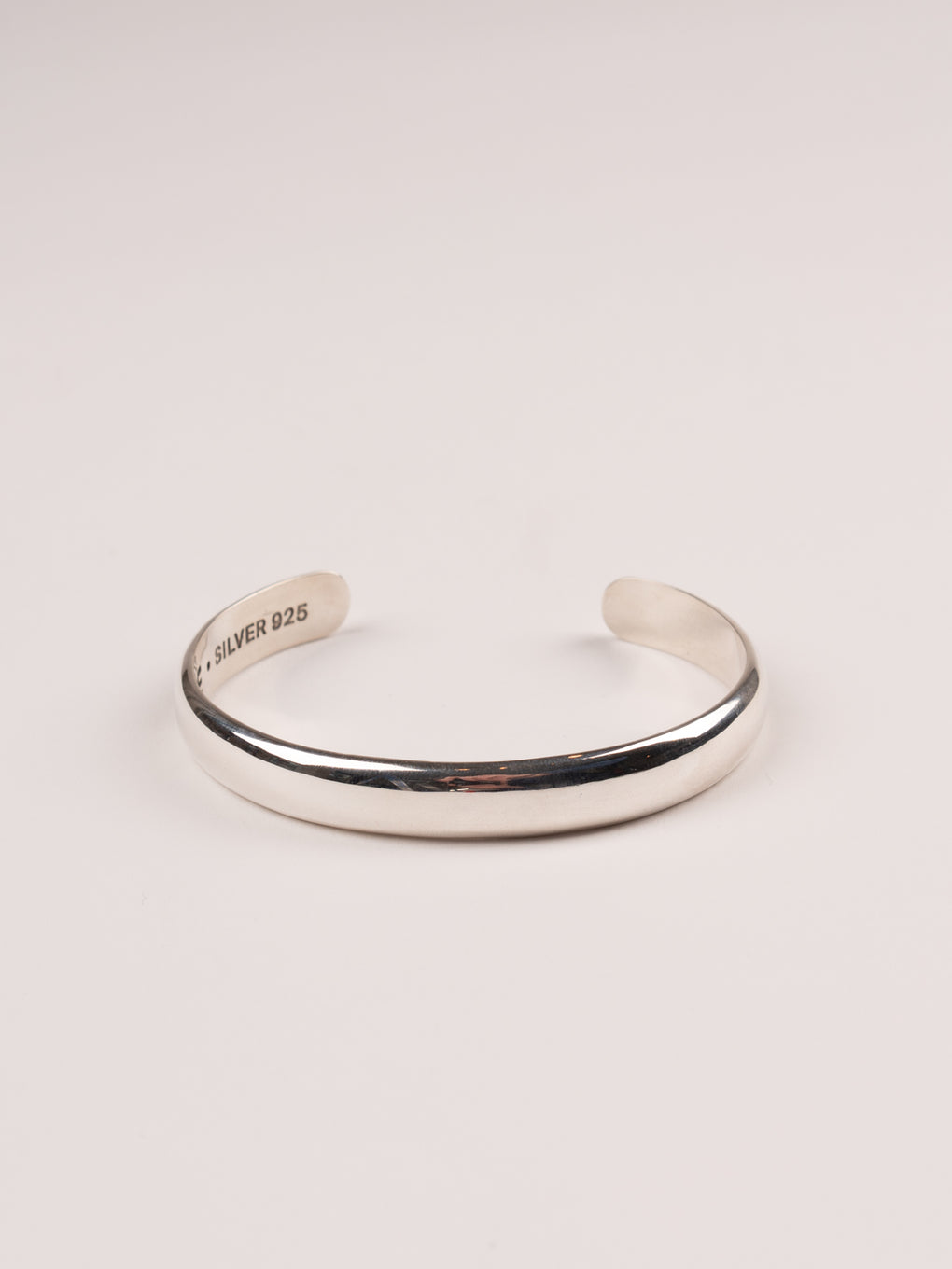 mens silver jewelry, mens bangle with pinstripe detail at cuff, silver 925 - MAPLE