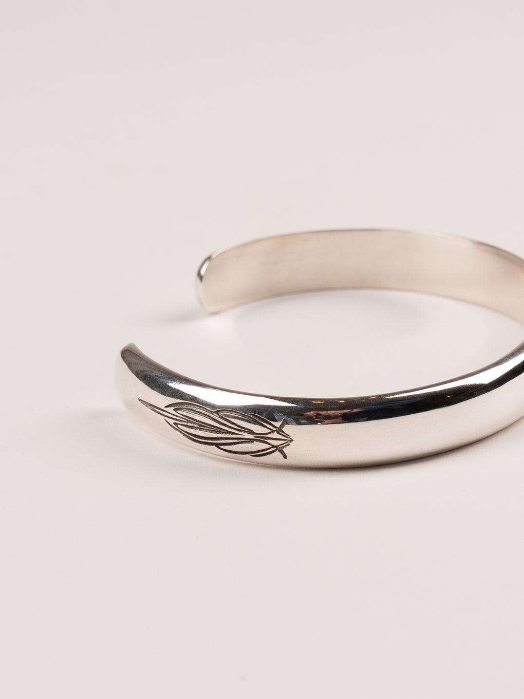 Pinstripe Bangle V2 Silver 925