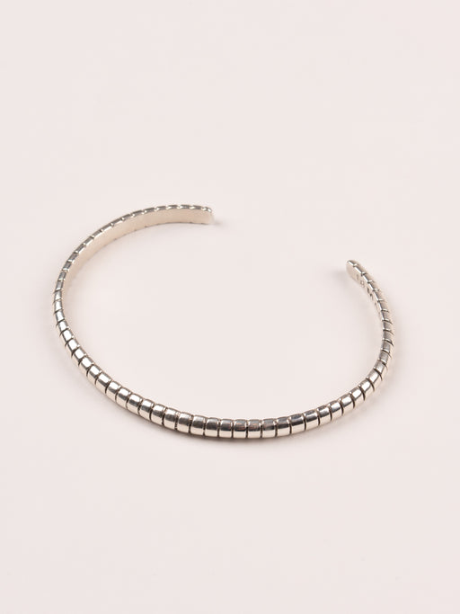 Ribbed Bangle Silver 925