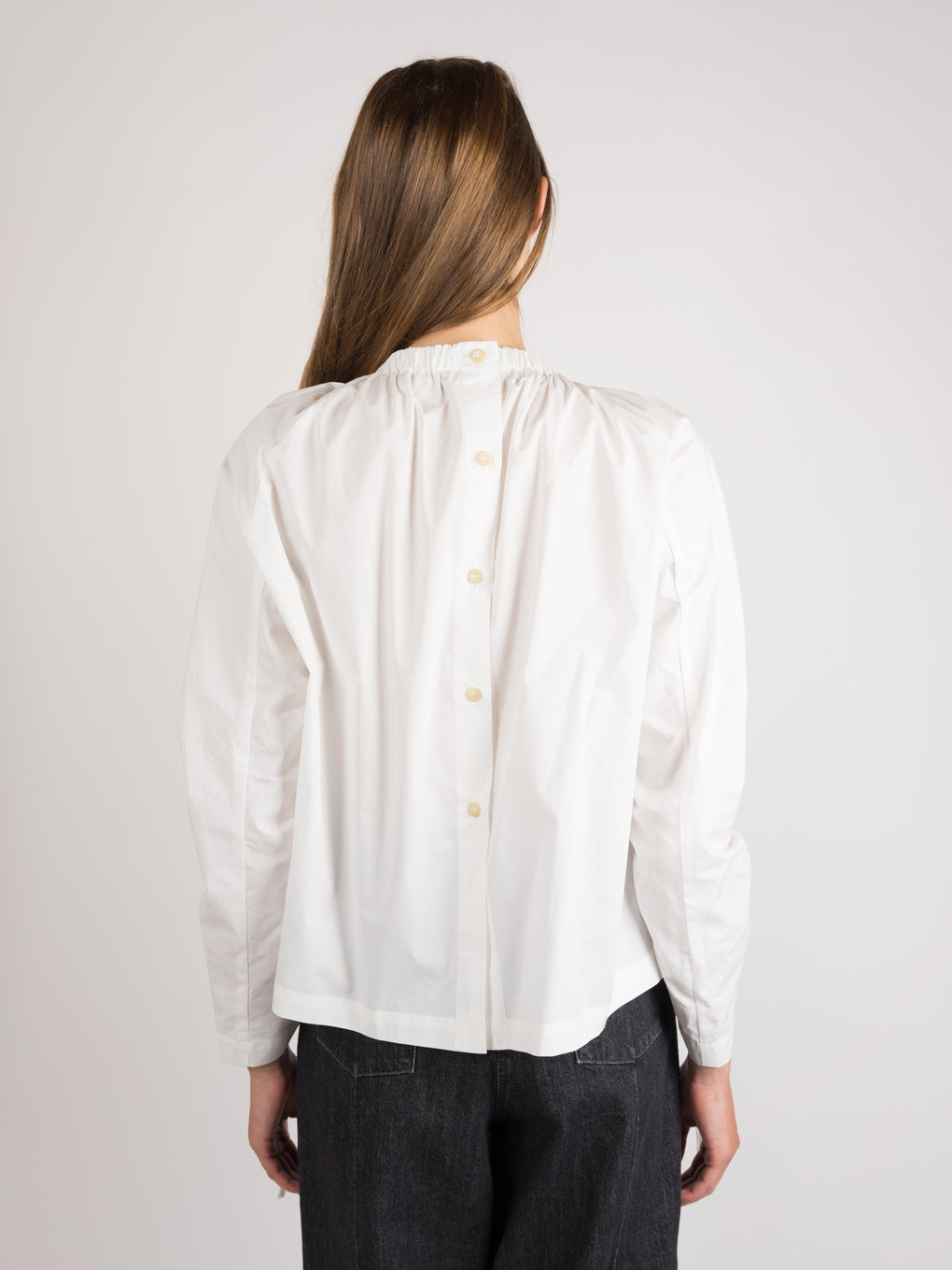 Swing Ruched Shirt White