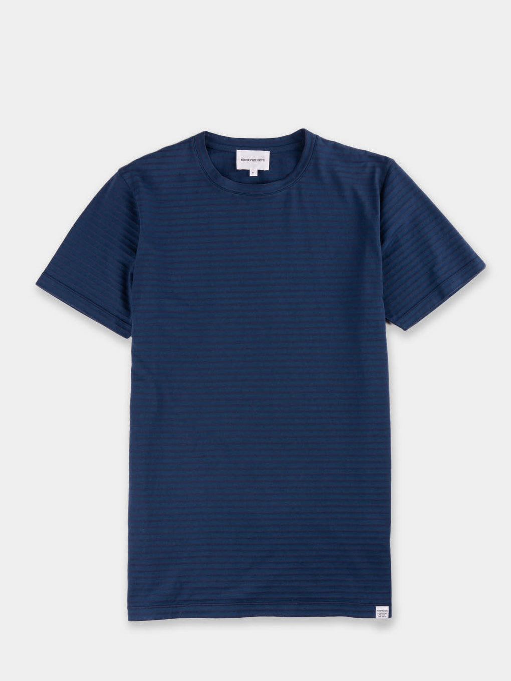 mens premium tshirt with blue stripes from Norse Projects