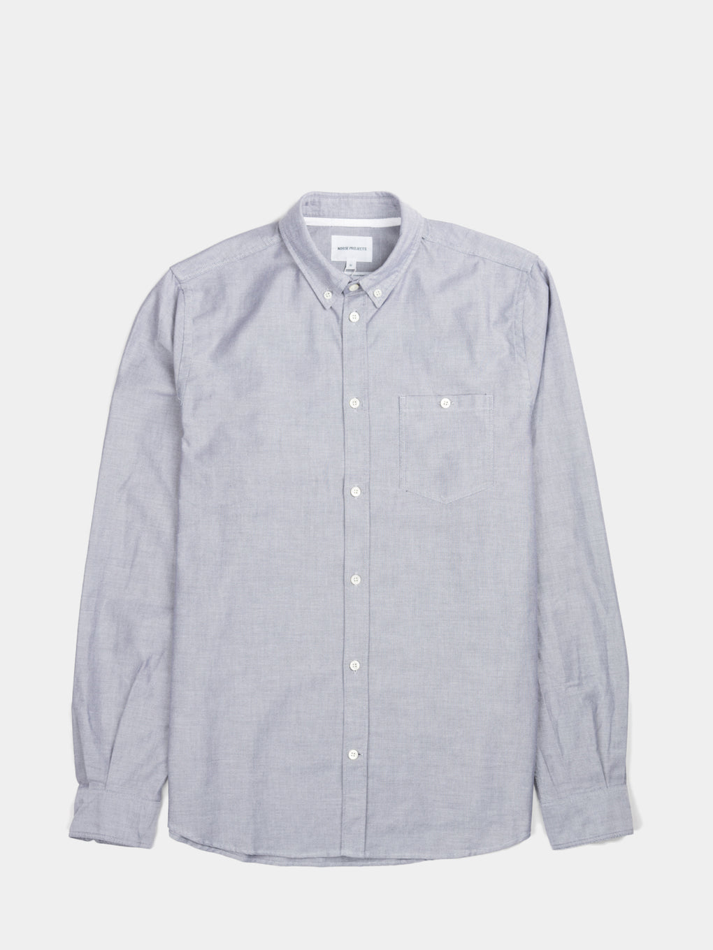 mens casual oxford shirt - Anton Oxford - Grey - Norse Projects- Understudy