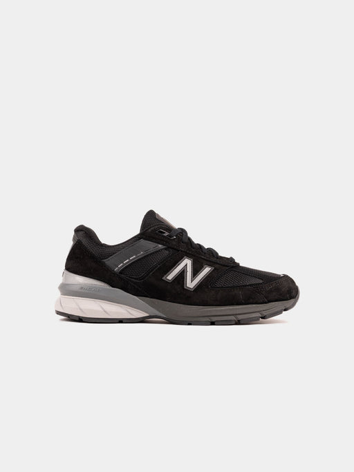 mens running shoe, 990V5, black pigskin and mesh, suede, sneakers, new balance