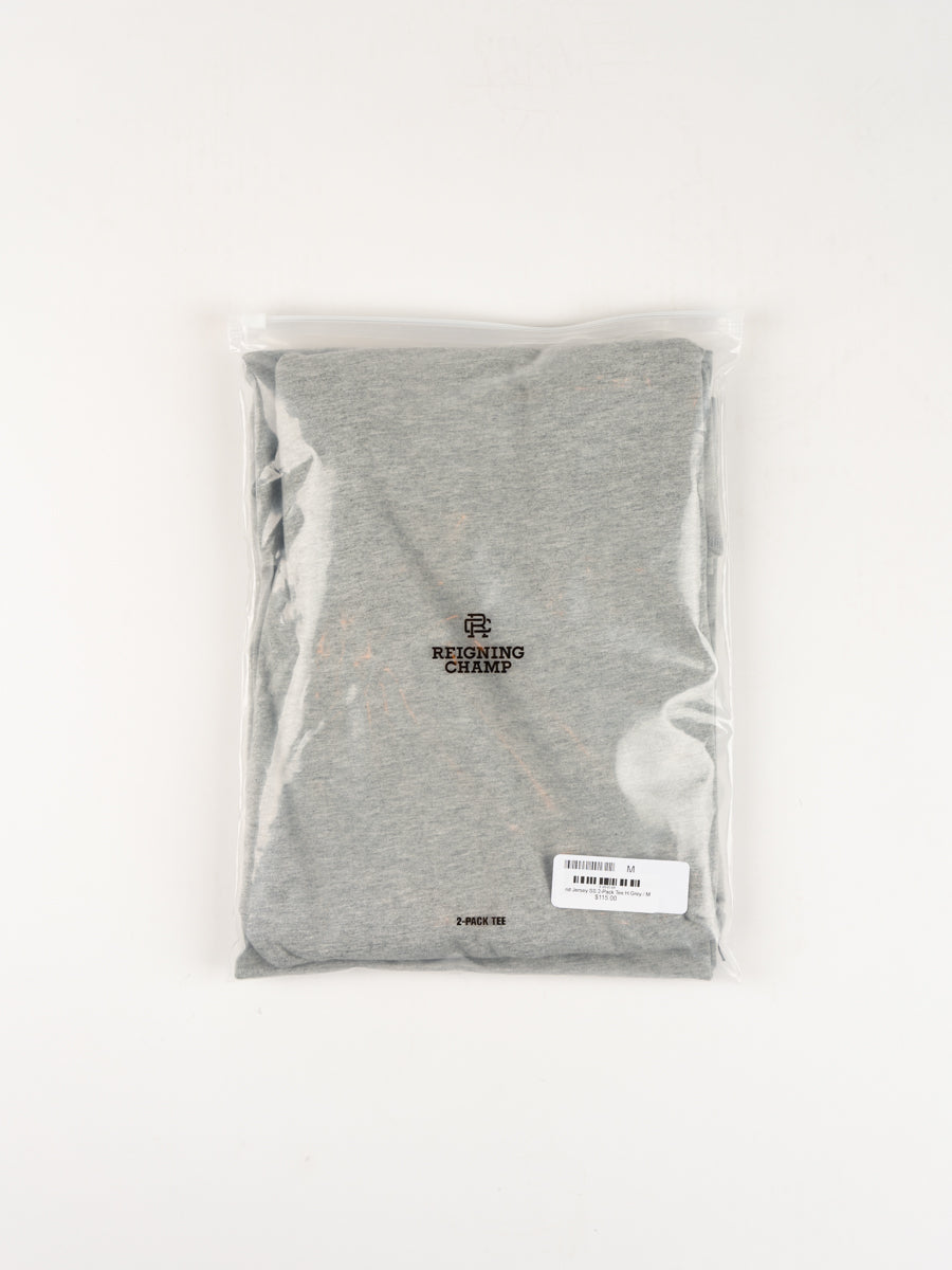 Knit Jersey SS 2-Pack Tee H.Grey