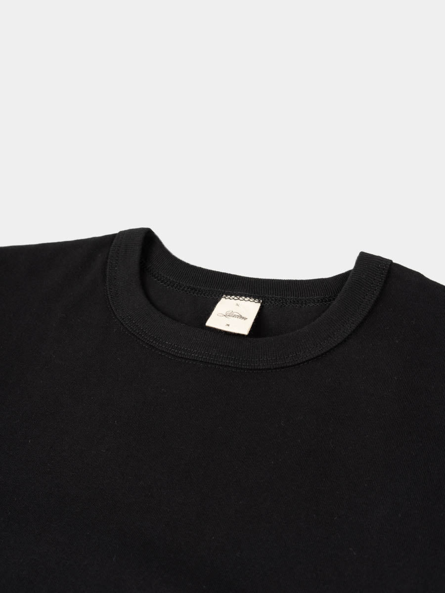 Heavyweight Plain T-Shirt Black