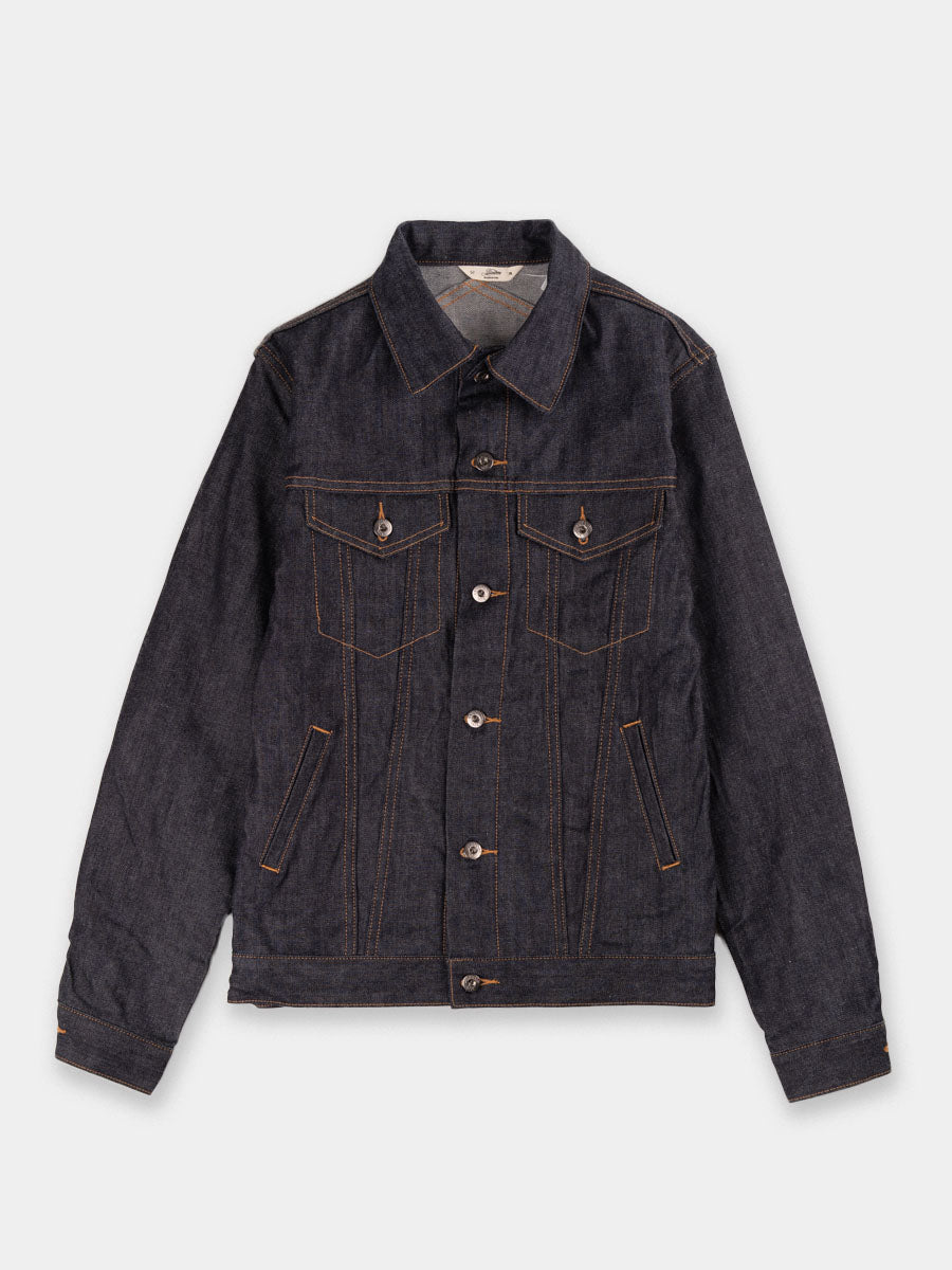 jean jacket, selvedge denim, japanese 12oz denim, Indigo with yellow stitching, 3Sixteen