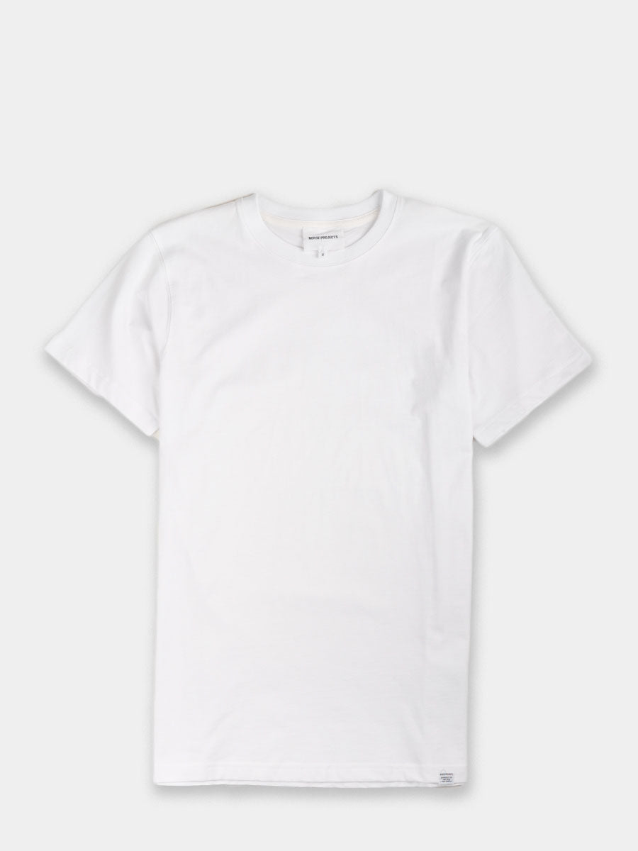 mens white t-shirt, short sleeve, crew neck, cotton, classic tee, Norse Projects