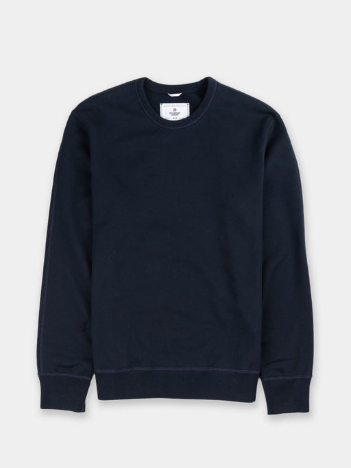 Midweight Terry Long Sleeve Crewneck Navy