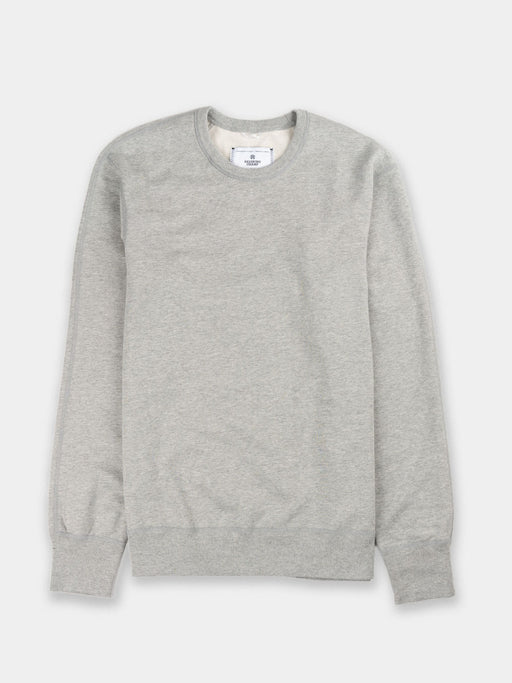 midweight, terry, long sleeve, heather grey, crewneck sweatshirt, reigning champ