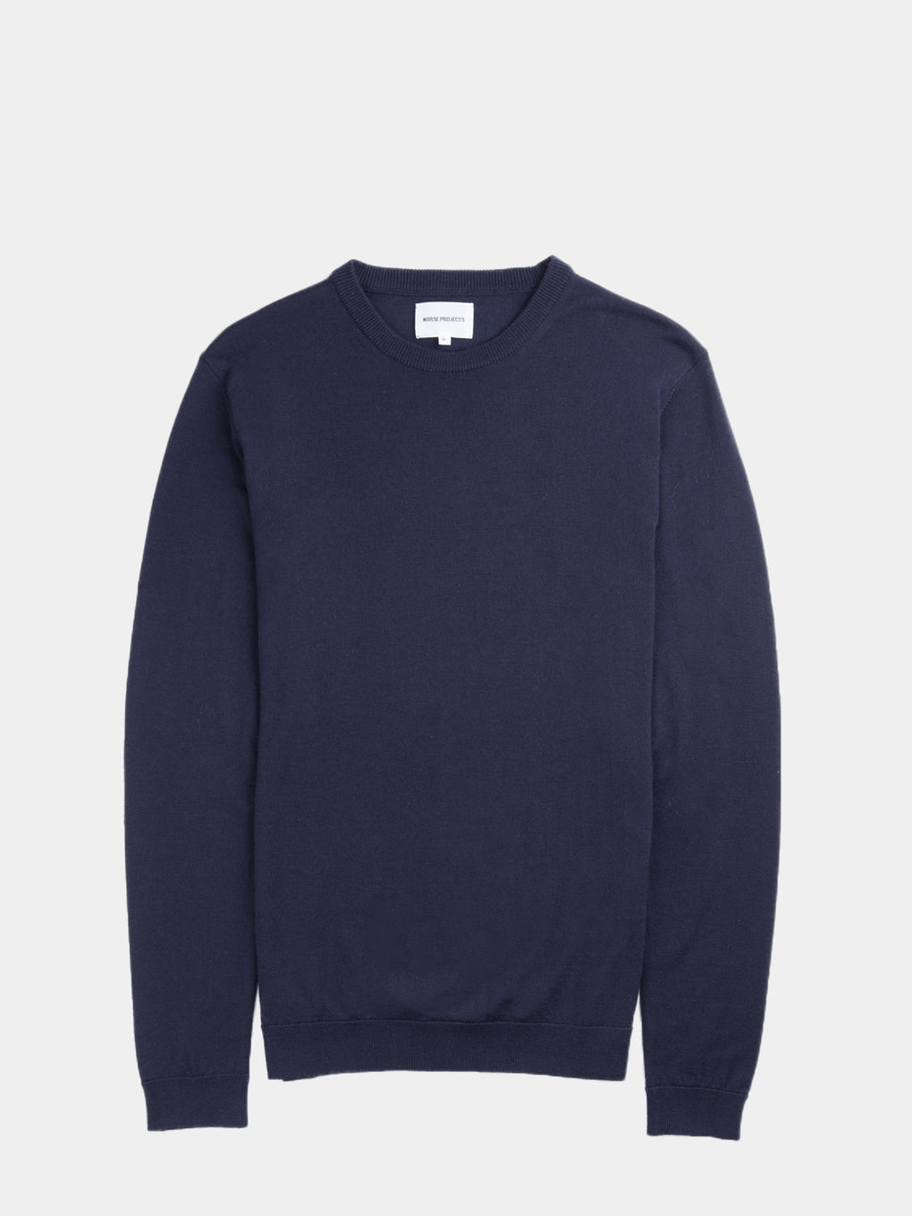mens lightweight Italian merino knit sweater for warm weather  - navy - Norse projects