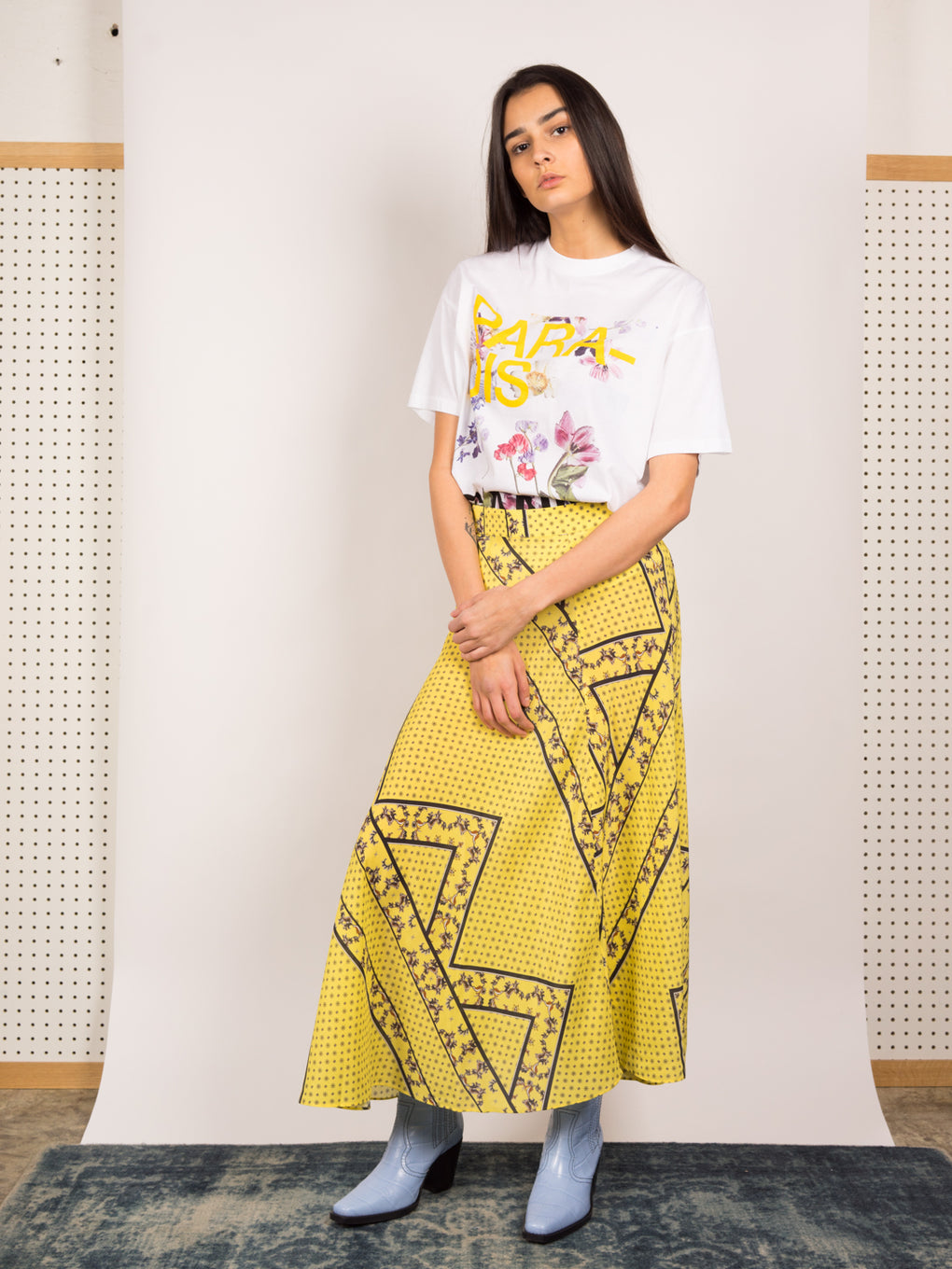 Silk Mix Skirt Minion Yellow