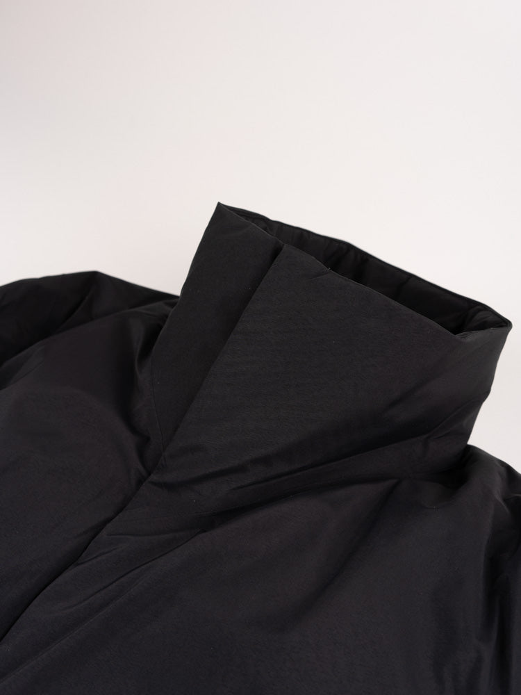euler IS coat, black, veilance, collar detail