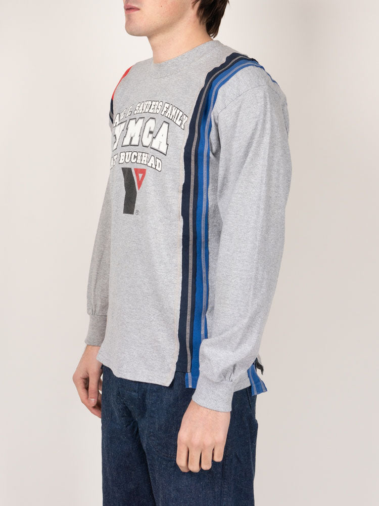 Rebuild by Needles 7 Cuts L/S Tee College - Medium