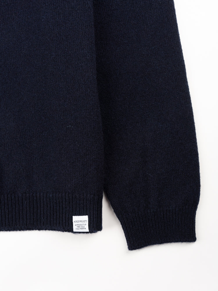 Sigfred Lambswool Dark Navy