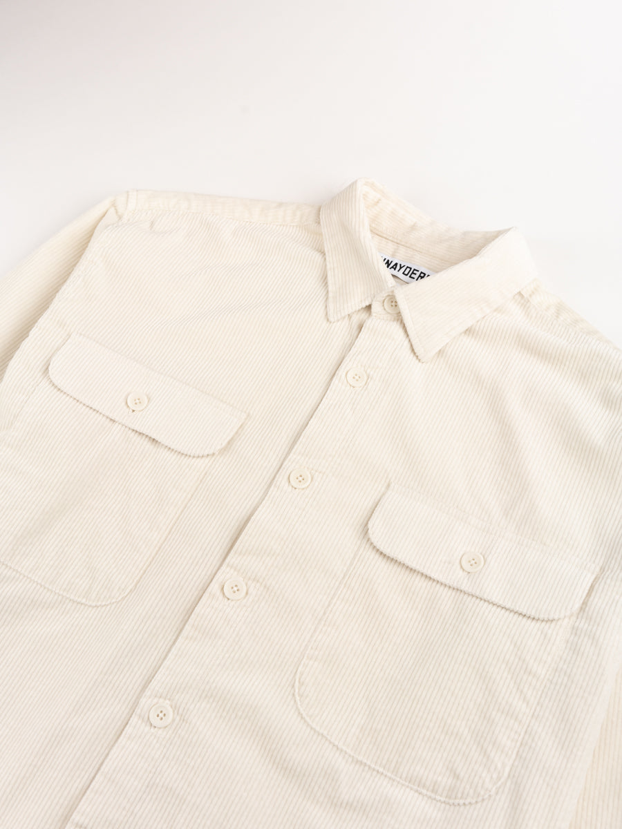 shirt boxy, cord, off white, schnayderman's, collar and pocket detail
