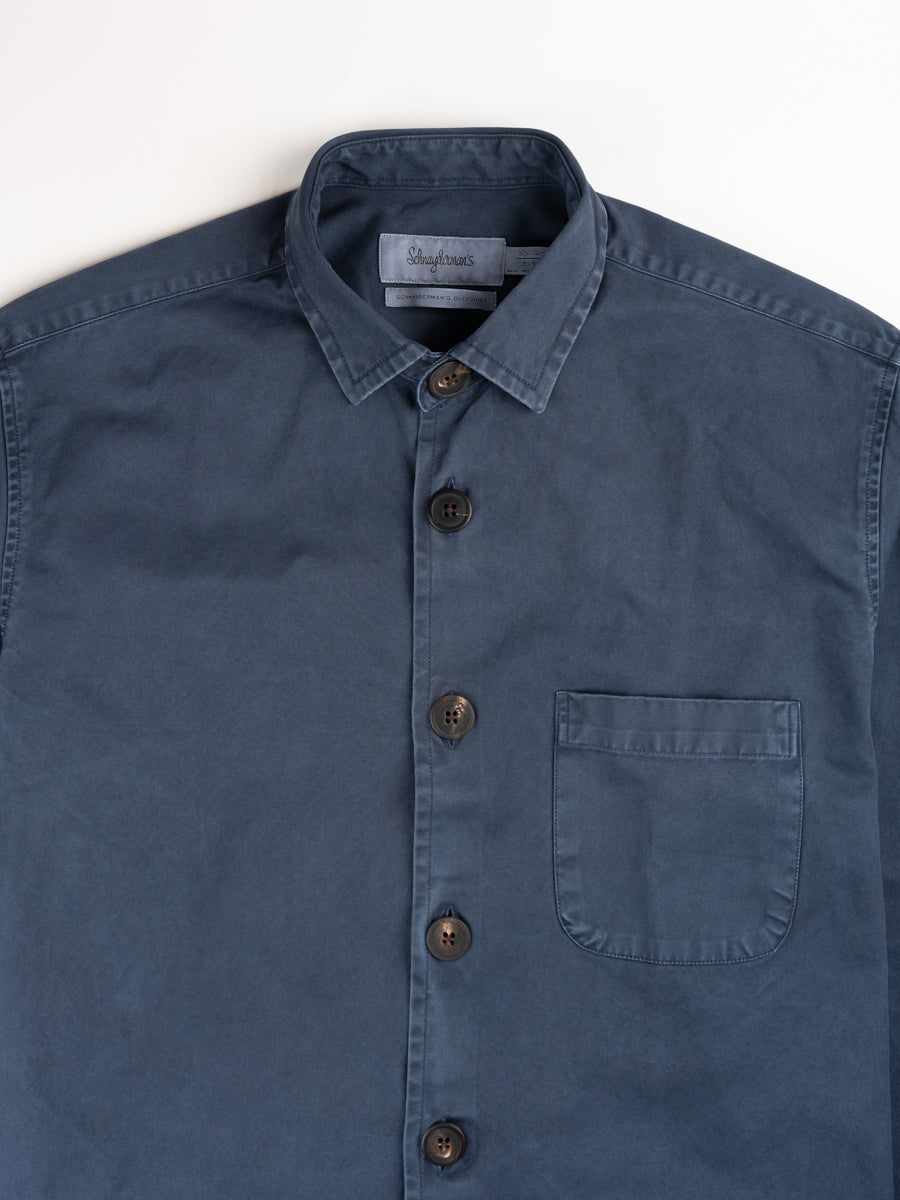 Overshirt overdyed one, dark blue, shcnayderman's, collar detail