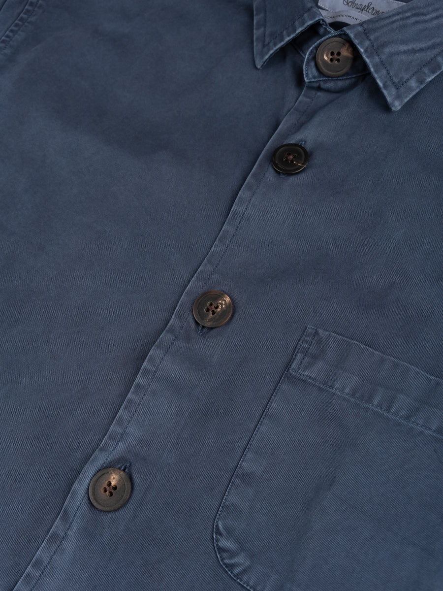 Overshirt Overdyed One Dark Blue