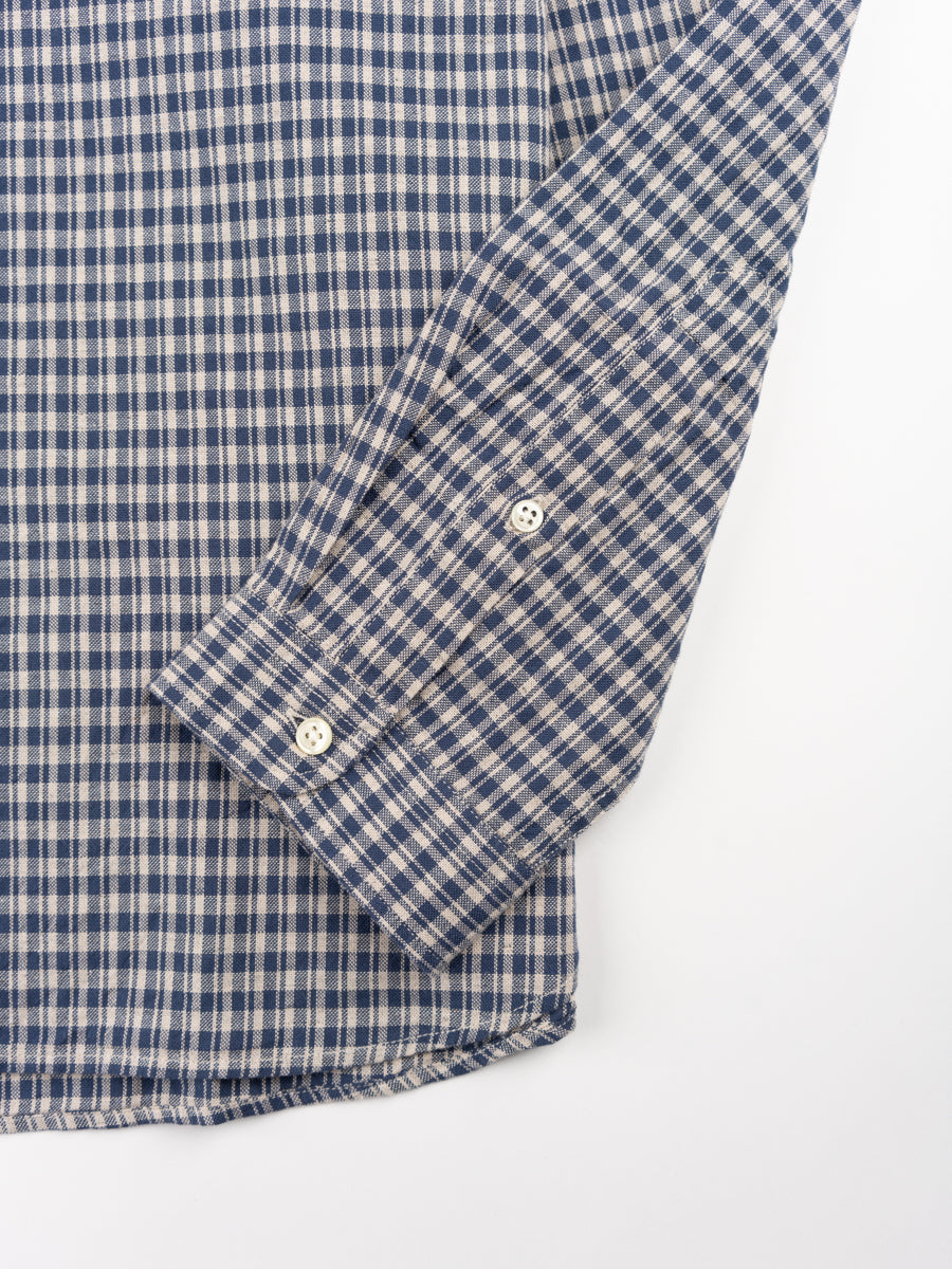 clerkenwell tab shirt, thorndon blue, oliver spencer, cuff detail