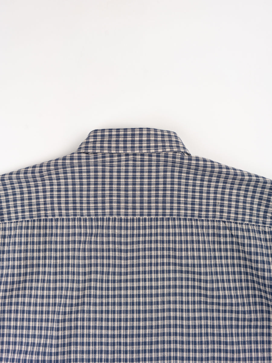 clerkenwell tab shirt, thorndon blue, oliver spencer, back of collar