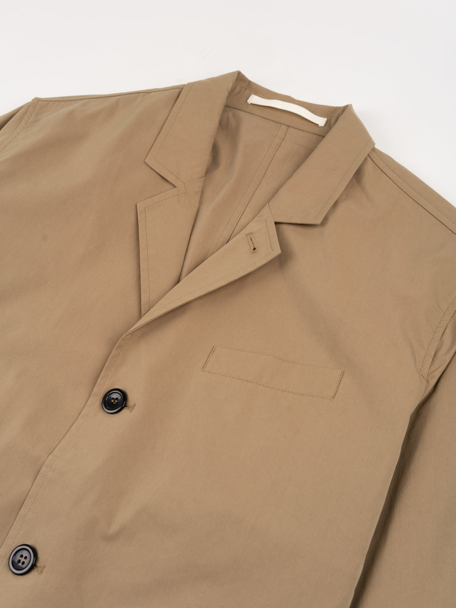 lars packable jacket, utility khaki, norse projects, collar detail