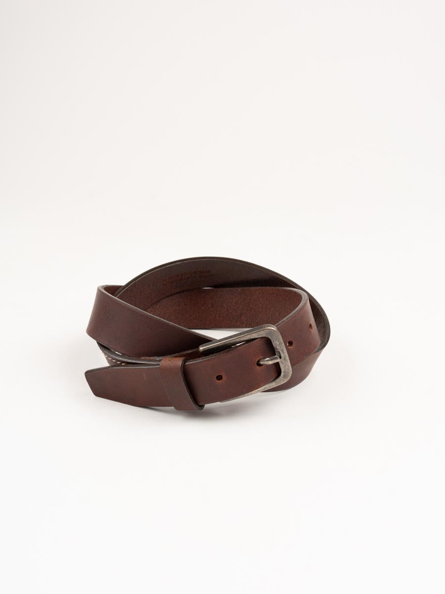 everyday belt, dark brown, leather, universal works