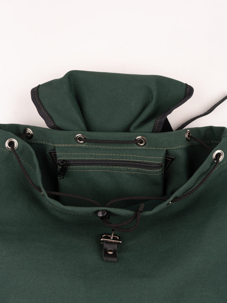 day pack, hunter green, south2 west8, inside zip pocket