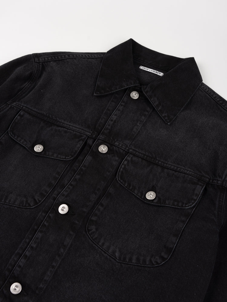 new work jacket, coal cotton, our legacy, chest pockets