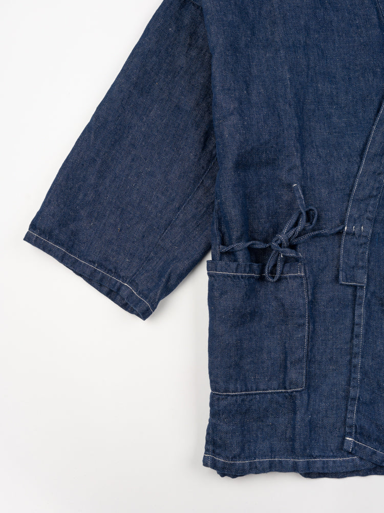 takumi jacket, one wash denim, orslow, waist tie detail