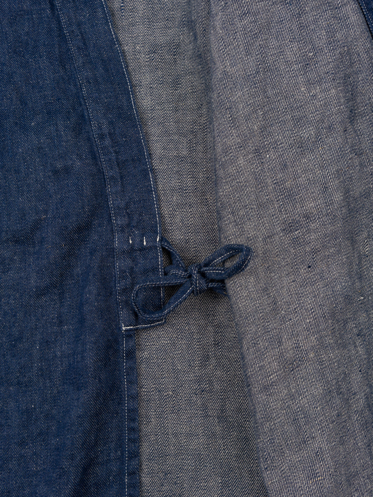 takumi jacket, one wash denim, orslow, interior tie
