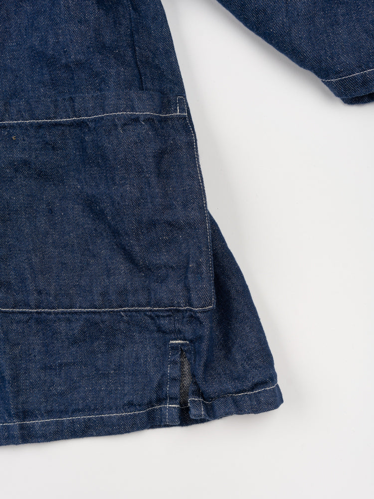 takumi jacket, one wash denim, orslow, split side seam