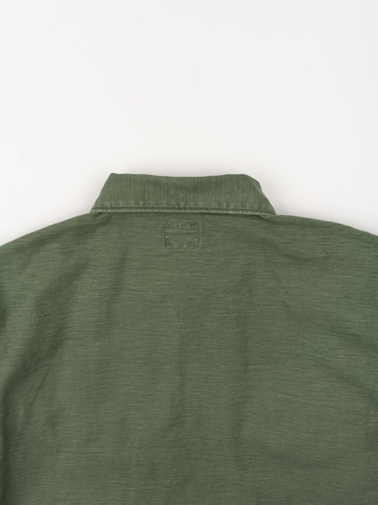 us army jacket, three quarter sleeve, green used, orslow, back collar