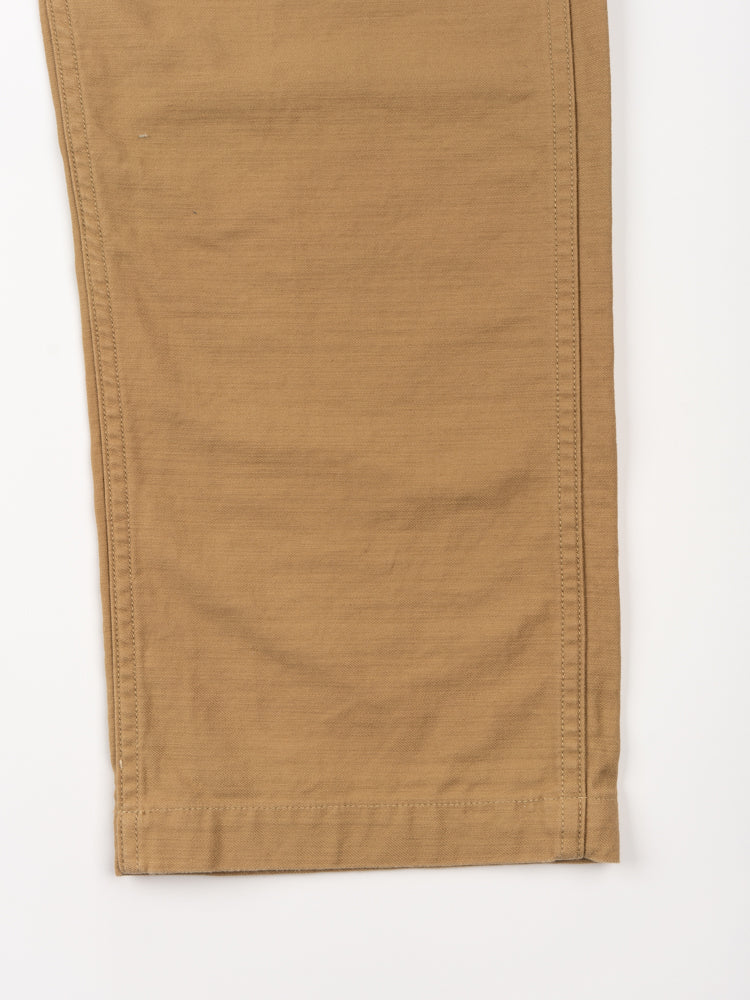 us army fatigue pants, khaki, orslow, hem