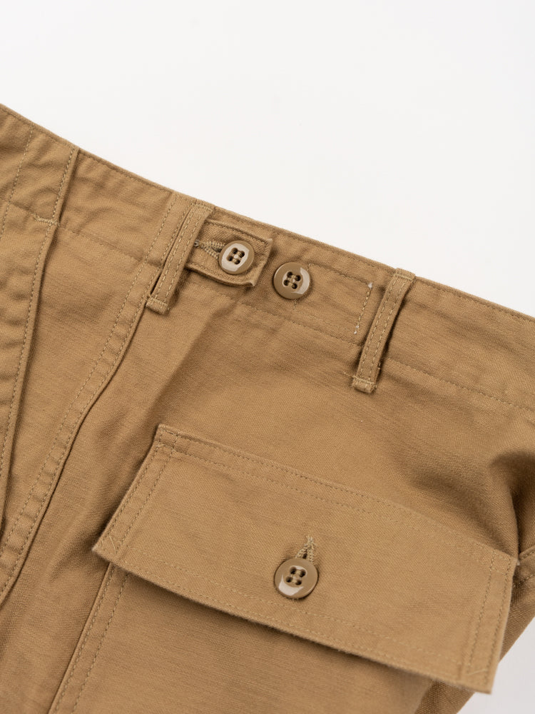 us army fatigue pants, khaki, orslow, back pocket