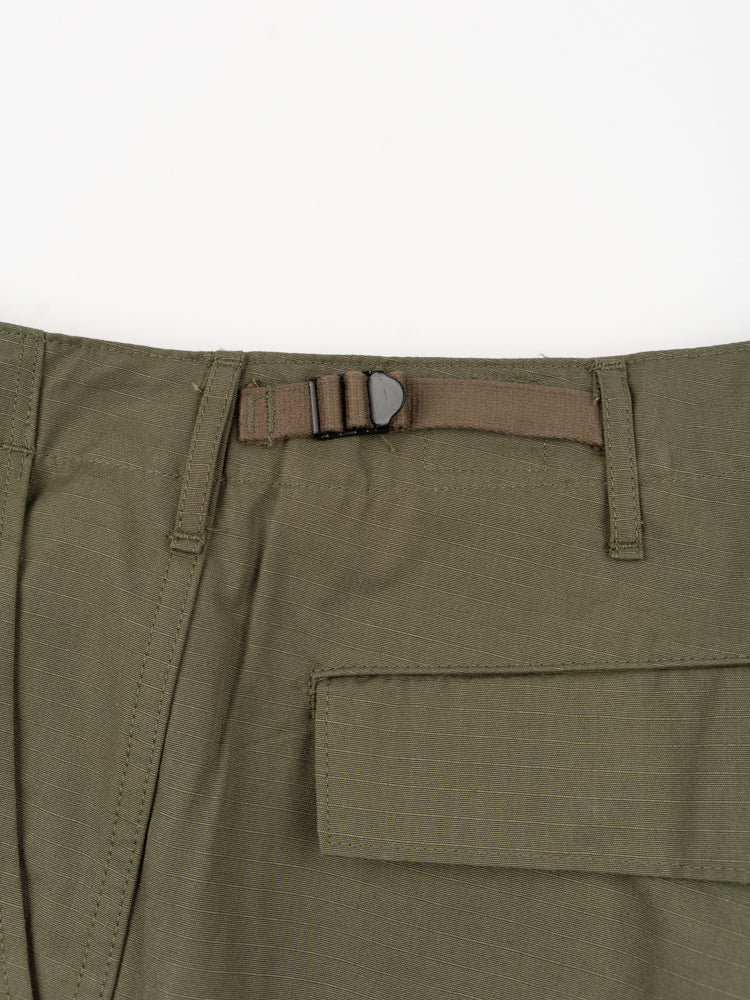 slim fit, 6 pocket cargo pants, army green, orslow, back waist adjuster
