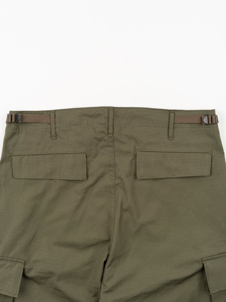 Slim Fit 6 Pocket Cargo Pants Original Ripstop Army Green