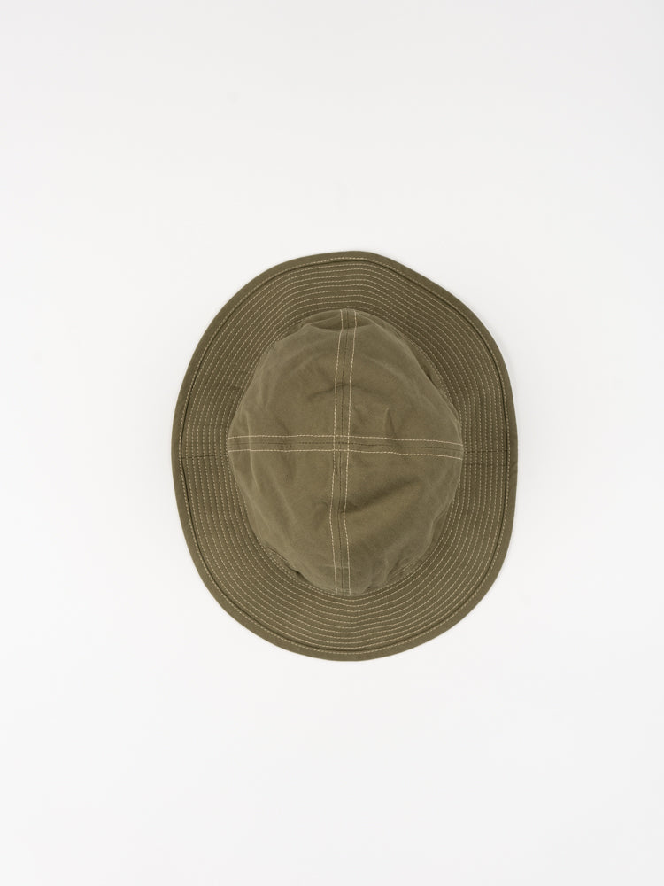 us navy hat, green, orslow, top view