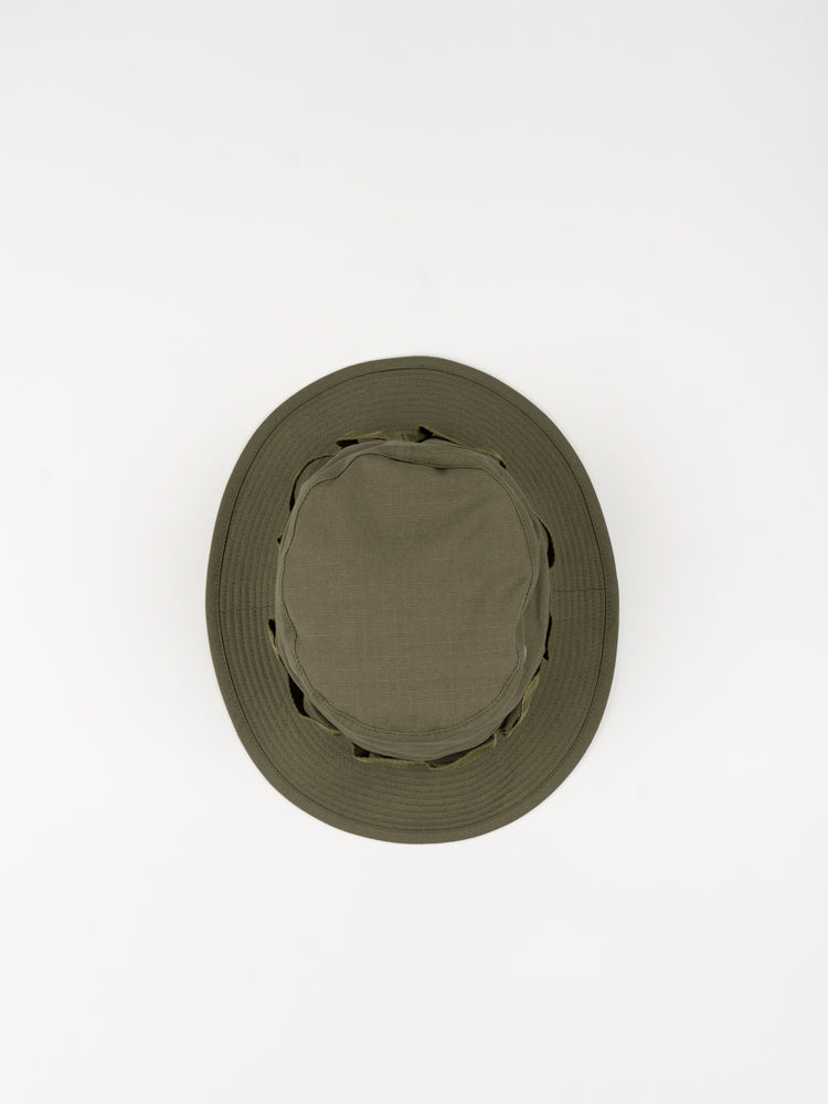 us army jungle hat, green, orslow, top view