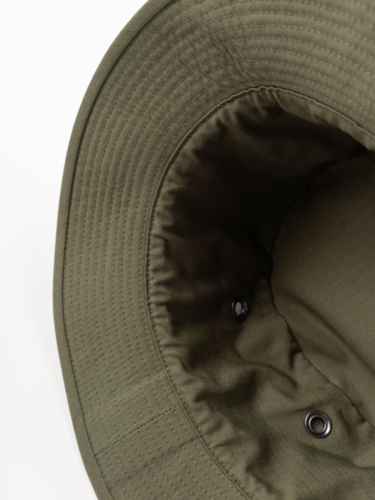 us army jungle hat, green, orslow, interior