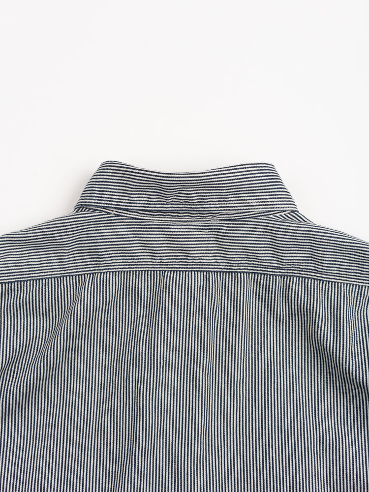 work shirt, hickory stripe, orslow, back collar