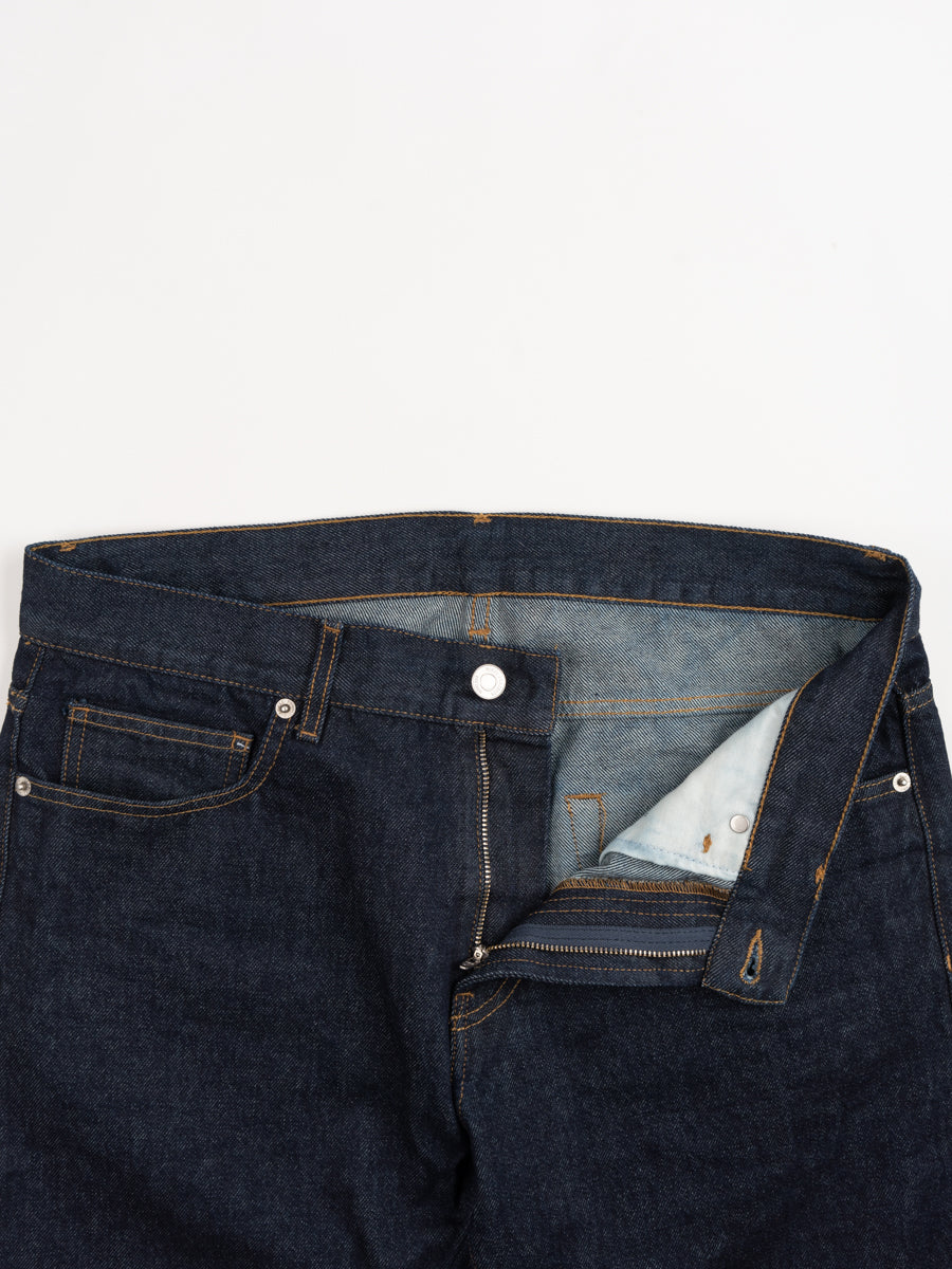 norse slim denim, indigo, zipper fly, norse projects