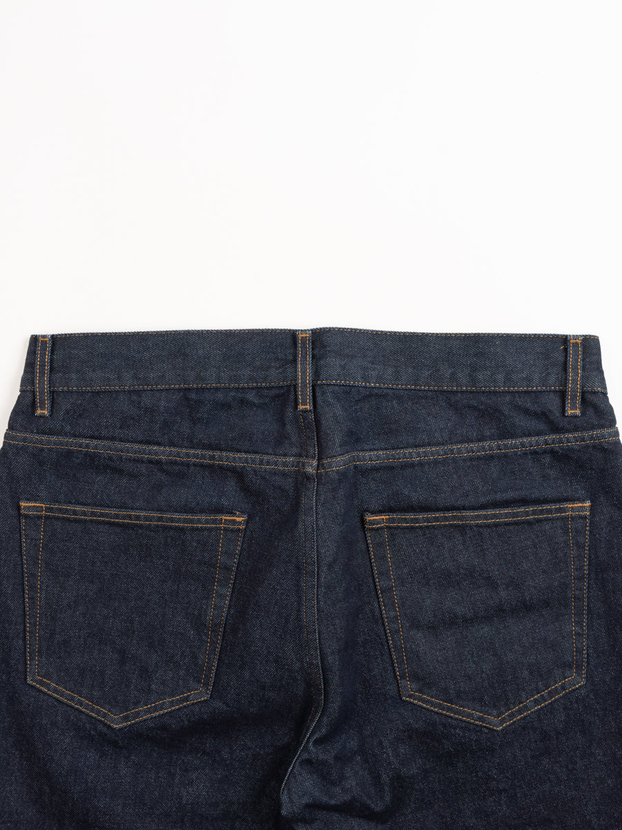 norse slim denim, indigo, back pockets, norse projects