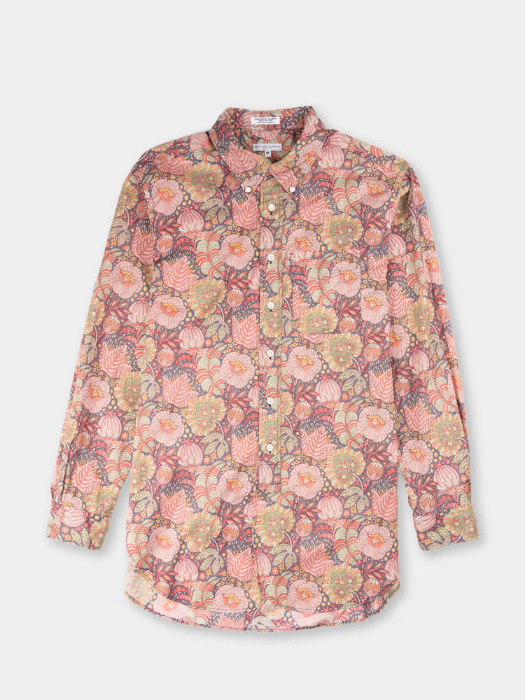 19 century bd, pink floral print, cotton lawn, engineered garments